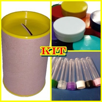 Kit 100 Latinhas Plastica + 30 Tubetes + 50 Cofrinhos