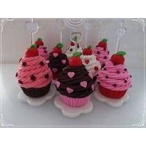 20 Lembrancinhas Porta Recado Cupcake Aniversário Chá