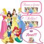 Placas Divertidas / Plaquinhas Aniversário: As Princesas