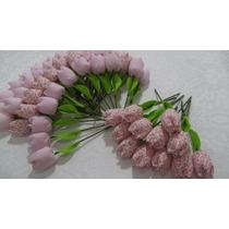 Tulipa De Tecido Mini Aromatizadas Com Pérola Lisa Floral