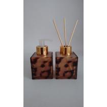 Kit Vidro Cubo Onça 100 Ml.sabonete E Aromatizador 4 Varetas