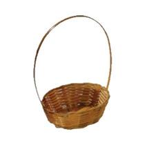 10 Mini Cesta Lembrancinha Palha Bambu Ref.1654 14x08x06