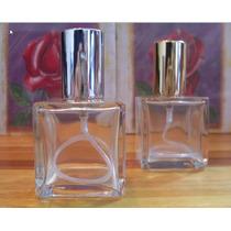 10 Frascos Vidro Perfume Cubo 50 Ml Valvula Dourada Prateada