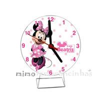 10 Relógio Minnie Rosa Personalizados, Lembrancinhas