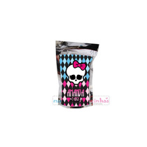 10 Saquinho Metalizado Monster High Personalizado