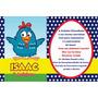 Convite Aniversário Com Envelope E Etiqueta!kit Com 10!