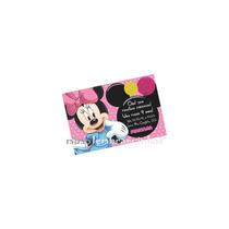 20 Convites 10x15cm Tema Minnie Rosa Personalizado