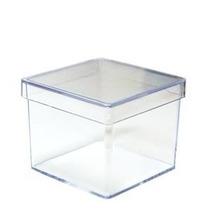 Caixinha De Acrílico 4x4 Transparente (kit 50 Unidades).