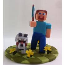 Topo De Bolo Minecraft Buscuit