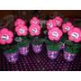 10 Enfeite De Mesa Flores De Fuxico Personalizadas
