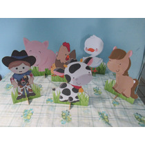 Fazendinha De Mesa,personalizado,festa Infantil,mdf