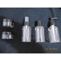 Kit Com 3 Frascos E 2 Potes Em Plasticos Super Resistentes.