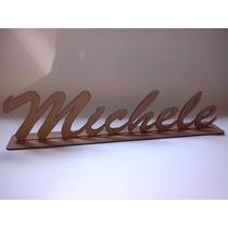 Letras Nome Em Mdf Madeira Crú - 50 Cm De Larg - Mdf 3mm