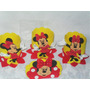 Enfeites Eva Minnie Kit C/10 Centro De Mesa + 10 Porta Guard