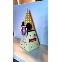 10 Caixas Cone 3d Minnie Amarela
