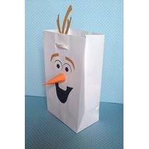 Sacolinha Para Brindes - Festa Frozen - Elsa - Olaf