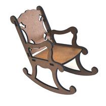 Miniaturas Mdf Mini Móveis- Cadeira De Balanço - Provençal