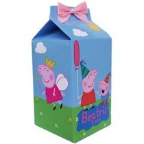 Caixinha De Leite / Milk Montada 12 Unid Peppa Pig E Outros