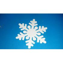 100 Flozen Floco De Neve Elsa Recortes 5cm