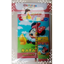 Kit Colorir Minnie Vermelha Com Giz De Cera ( Artmovie)