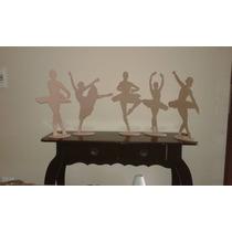 50 Bailarinas Mdf 15cm Decoração Lembrancinha Festa 15 Anos