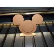 Porta Retratos Mickey Minie Para Enfeites De Mesa Mdf Cru.