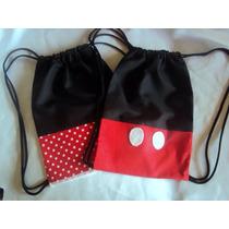 Kit Com 10 Mochilas Tema Mickey E Minie