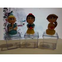 Princesas Da Disney Em Biscuit Na Caixa De Acrílico 4x4cm