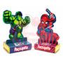 Kit 40 Caixinha Paçoquita Homem Aranha E Hulk Personalizados