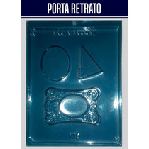Forma De Acetato Chocolate Porta Retrato Moldura Kit 10 Pçs