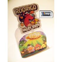 100 Forminhas Angry Birds Com Mini Toten Personalizados