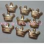 100 Coroas Douradas 1,5cm Biscuit Aplique Frete Grátis