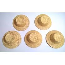 Chapéu De Palha Boneca Para Lembrancinha E Junina Kit Com 10