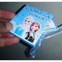 Convite Caixinha Frozen Personalizada Com Tag Kit Com 10 Un.