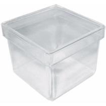100 Caixinha Acrílica 4x4 Incolor Transparente Lembrancinha