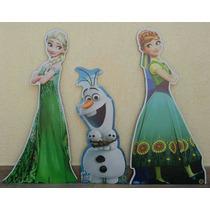 Kit Frozen Fever Totem Chão Display Mesa Festa Infantil Mdf