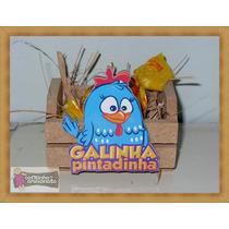 10 Lembrancinhas Galinha Pintadinha - Mini Caixotes Mdf