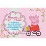 Convites De Aniversario Peppa Pig Com 100
