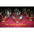 50 Coroas Biscuit Tubete Aplique Reinado Princesa Principe