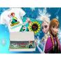 Kit Frozen Fever Camiseta Infantil 10 Almofadas 10 Toalhas