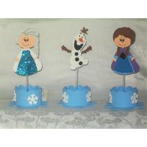 Enfeites Eva Frozen Kit Com 10 Centro De Mesa