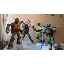 Tartarugas Ninjas Cenario De Mesa,display,festa Infantil,mdf
