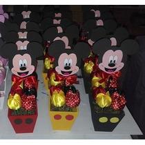 Centro Mesa Mickey E Minnie C\15 C\pega Balão