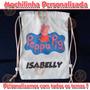 Kit 10 Mochilinhas Eco Bag Sacola Festinhas Tecido Peppa Pig
