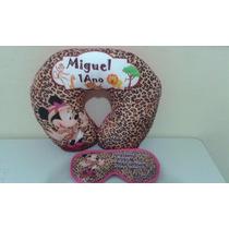 Almofada De Pescoço + Tapa Olho Personalizados Infantil