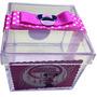 10 Caixinhas Acrílico Personalizadas Minnie Rosa. Minie