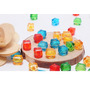 40 Contas Cubos Coloridos Acrilico Sortidos E Frete Gratis