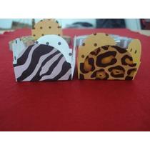 Forminha De Doce 4 Petalas Oncinha/zebra C/ 50 Unidades
