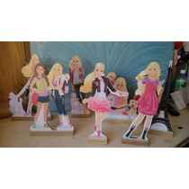 Barbie Cenario De Mesa, 10 Display,festa Infantil Mdf