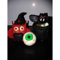 Lembrancinha/ Boneco Coruja Em Biscuit Halloween